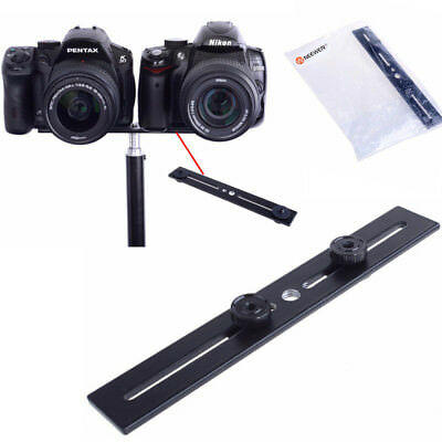 Neewer Dual Camera Bracket Tripod Mount for 3D Stereo Photography Durable Black