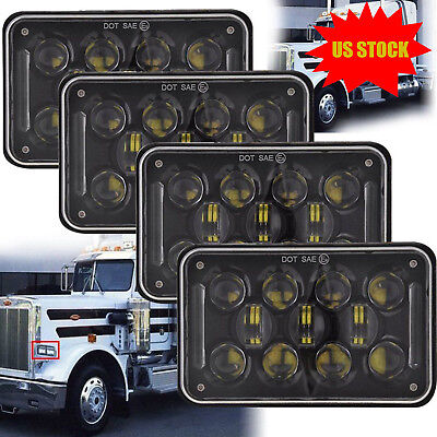 """4PCS Dot Approved 4x6"""" LED Headlights Replacement for H4651 H4652 H4656 H4666"""