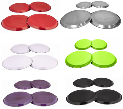 STEEL COLOURED HOB COVER PROTECTOR METAL RING ELECTRIC COOKER 4PC  S