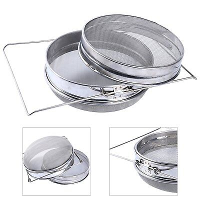 Stainless Steel Beekeeping Double Honey Sieve Strainer Filter Equip Tool