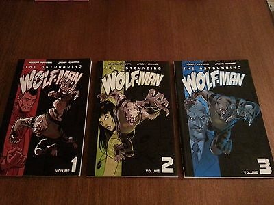 Signed by writer Robert Kirkman The Astounding Wolf-Man Vol. 1-3 TPB Free ship