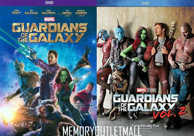 Brand New! Guardians Of The Galaxy: 1 & 2,  (Dvd Bundle). Ships Free