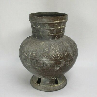 H406: Korean vase of excavated earthenware vessel of Silla called SHIRAGI style