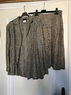 Chanel tailleur giacca e gonna jacket and skirt linen authentic