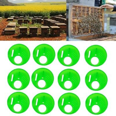 12 Pcs Beekeepers Bee Hive Nuc Box Entrance Gate Beekeeping Equipment plastic EW