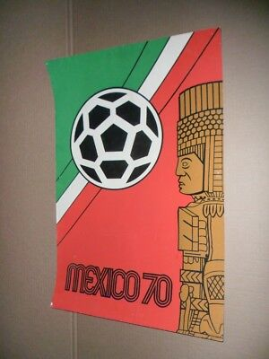 1970 World Cup Very Rare Mexican Giant Poster with velvet MEXICO 70 !