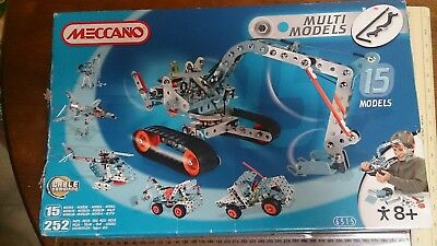 NEW METALLIC Meccano 6515 MULTIMODELS 15 Multi Models Yr8+ Metal OPENED WORN BOX