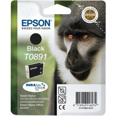 T0891 Epson New Genuine Original Ink Cartridge Monkey
