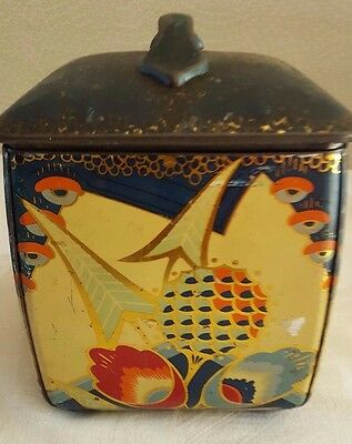 Two (2) Art Deco Tins / Tea Caddys / Biscuit Tins