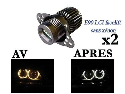 2 Angel Eyes LED 40W BMW E90 E91 E92 E93 LCI Facelitf SANS XENON 320 325 330 etc