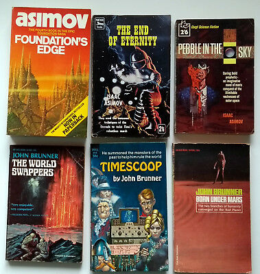 A Collection of 6 golden age science fiction booksJohn Brunner, Isaac Asimov