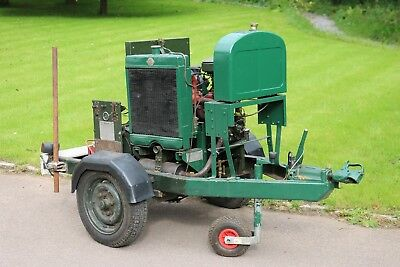 Restored Godiva generating set with Coventry Climax engine