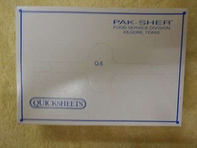 """Pak-Sher Quicksheets Interfolded Q-8 Food Wrap Papers 4000 sheets 8"""" x 10 3/4"""""""