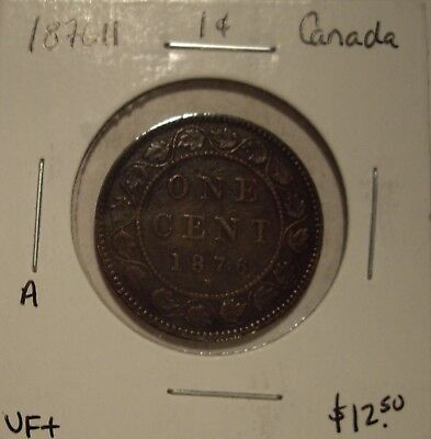 A Canada Victoria 1876H Large Cent - VF+