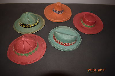 5 Vintage Kids Cardboard Party Hats