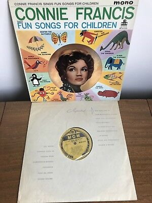 Connie Francis Sings Songs For Children 1959 MGM Vinyl LP - MGM C 819