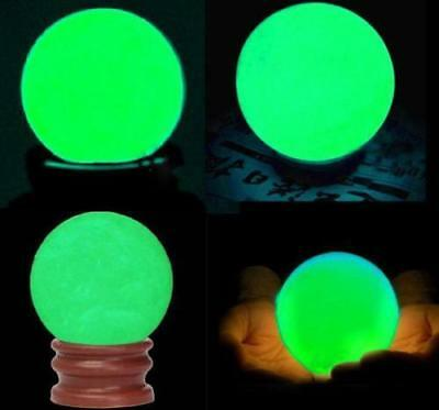 Delicate Glow In Dark Quartz Crystal Sphere Ball Luminous 3.5cm + Stand