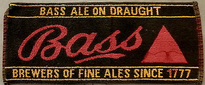 BASS ALE ON DRAUGHT  Advertising Towel    MUST SEE !!!!!  RARE !!!!!!!