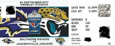 nfl london 2017 tickets ravens jaguars eur 130 00 picclick de. Black Bedroom Furniture Sets. Home Design Ideas