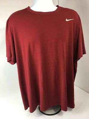 MEN'S NIKE DRI FIT T SHIRT SIZE XXL ATHLETIC Shirt Maroon/red