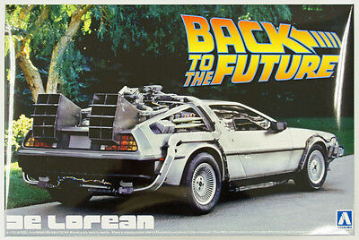 Aoshima 11850 Back to the Future Part 1 Delorean 1/24 scale kit