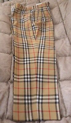 """Vintage 100% Wool Burberry Nova  Check Trousers Authentic 34"""""""