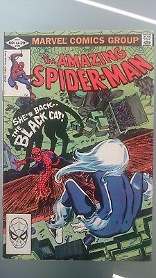 Amazing Spiderman # 226  Vf+  Black Cat  Cents  1982