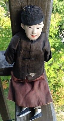 Antique Chinese doll, male figure