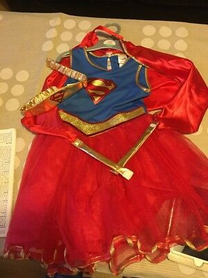 Girls Supergirl Costume 7-8
