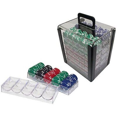 Trademark Poker 1000 Chip Capacity Clear Carrier W