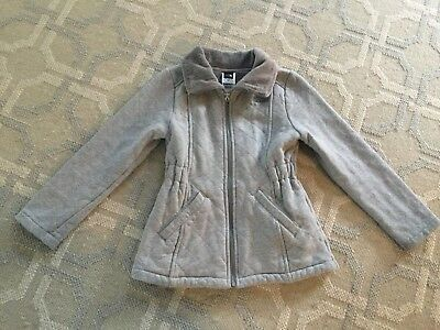The North Face Kids Quilted Stitch Zip Jacket-girl-size 6 (XS)-grey