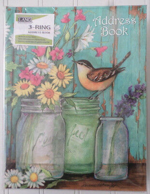 Lang Address Book ~ Flower Jars ~ Susan Winget ~ 3-Ring Binder 1013239 ~ 6.5x8.5