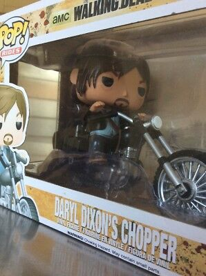 Funko Pop Rides TV The Walking Dead Daryl Dixon's Chopper Vinyl Figure Toy #08