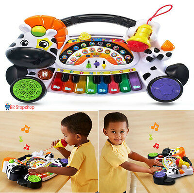 Kids Piano With Microphone Toddler Play Musical Toy Baby Pre-school Development