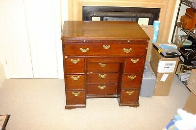 George II Mahogany Kneehole Dressing Table with Brushing Slide