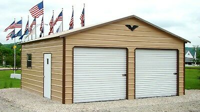 Steel 2 Car Garage 24x31x9 Metal Building Down Payment FREE DELIVERY SETUP CA