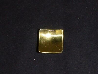 """Vtg Mid Century Concave Gold Tone Drawer Pulls Cabinet Hardware 1"""" square"""
