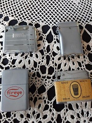 Lot of 4 vintage cigarette lighters