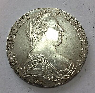 Austria, Maria Teresa Thaler, 1780, Lightly Toned Proof, Silver Coin