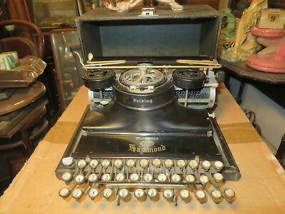 Antique Hammond Multiplex Folding Typewriter    Must see!