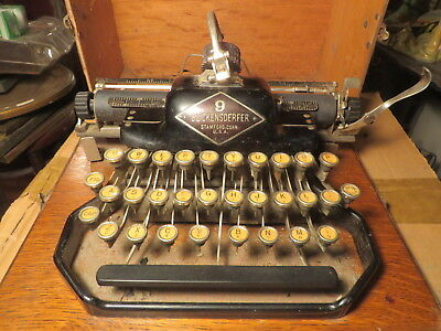 Antique Blickenderfer Model 9 Typewriter    Must see!
