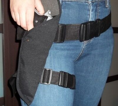 Black Gun Holster Waist Belt / thigh strap SWAT Security costume Half Life Mesa