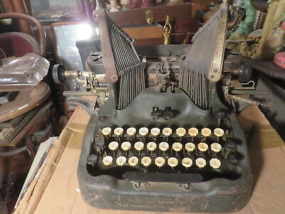 Antique Oliver 9 Typewriter    Must see!