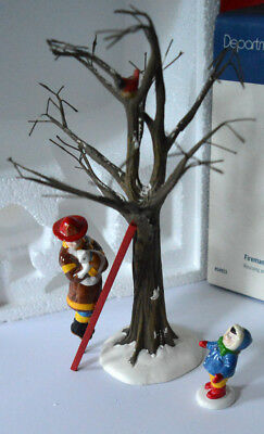 "Department 56 Snow Village ""Fireman To The Rescue"" Set of 3 #54953"