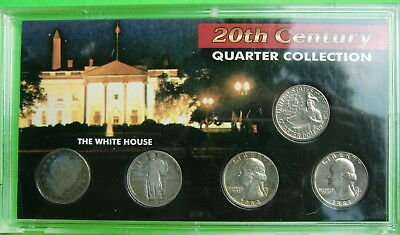 1916-1981 19th-20th Century Quarter Collection of 5 coins - 3 silver