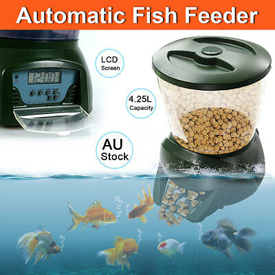 4.25L Big New Automatic Pond Fish Feeder Digital Tank Pond Fish Food Timer