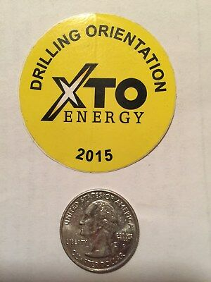 Xto Energy Drilling Orientation 2015 Decal Hardhat Gas Well Drilling Oilfield Ok