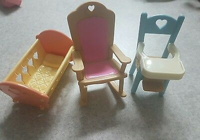 vintage fisher price loving family 1993 baby furniture