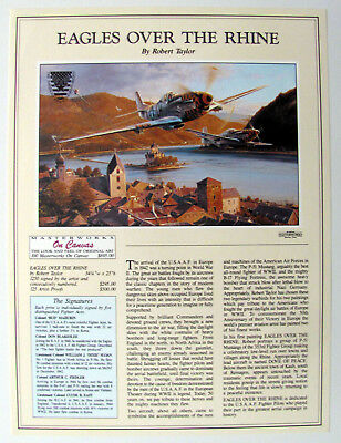 Robert Taylor – Eagles over the Rhine - Advertising Brochure