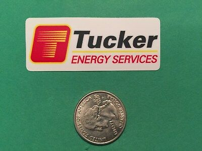 Tucker Energy Services Decal Gas Well Drilling Oilfield Ruffneck Hardhat Sticker